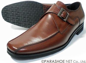 Christian Carano(クリスチャン カラノ)本革 モンクストラップ ビジネスシューズ 茶色 ワイズ3E(EEE)~4E(EEEE) 27.5cm、28cm(28.0cm)、28.5cm、29cm(29.0cm)、29.5cm、30cm(30.0cm)/大きいサイズ(ビッグサイズ)革靴・紳士靴