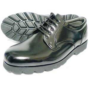 Black 本革 厚底プレーントゥ ビジネスシューズ 黒 幅広Gワイズ/6E(EEEEEE) 27.5cm、28cm(28.0cm)、28.5cm、29cm(29.0cm)、30cm(30.0cm)/大きいサイズ・革靴・紳士靴