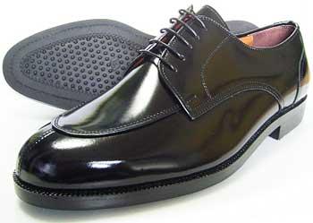 Veneziano 本革 Uチップ ビジネスシューズ 黒 幅広Fワイズ/5E(EEEEE) 27.5cm、28cm(28.0cm)、28.5cm、29cm(29.0cm)、30cm(30.0cm)/大きいサイズ・革靴・紳士靴