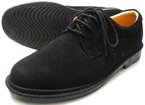 Rinescante Valentiano 本革スウェード プレーントウ ビジネスシューズ 黒 4E(EEEE) 27.5cm、28cm(28.0cm)、29cm(29.0cm)、30cm(30.0cm)/大きいサイズ・メンズ・革靴・紳士靴