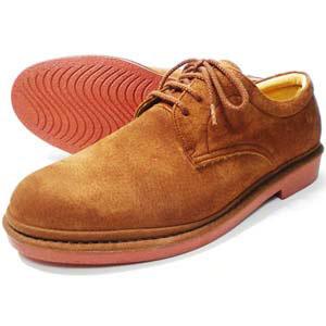 Rinescante Valentiano 本革スウェード プレーントウ ビジネスシューズ 茶色(レンガソール)ワイズ4E(EEEE)23cm(23.0cm)、23.5cm、24cm(24.0cm)【小さいサイズ(スモールサイズ)革靴・紳士靴】