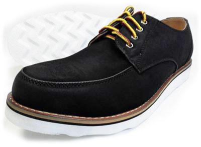 Tumeric Uチップ カジュアルシューズ 黒(ブラック)ワイズ3E(EEE) 28cm(28.0cm)、29cm(29.0cm)、30cm(30.0cm)【大きいサイズ(ビッグサイズ/キングサイズ)メンズ紳士靴】