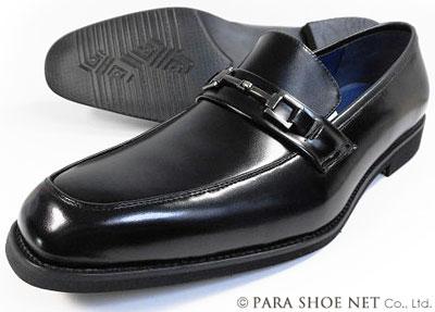 FRANCO GIOVANNI 本革 ビットローファースリッポン ビジネスシューズ 黒 ワイズ3E(EEE) 28cm(28.0cm)、29cm(29.0cm)、30cm(30.0cm)【大きいサイズ(ビッグサイズ)メンズ革靴・紳士靴】