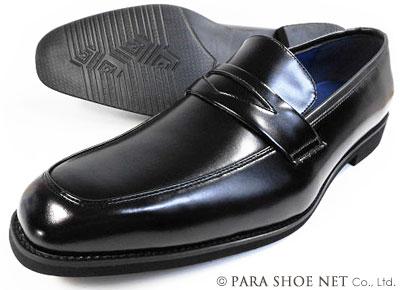 FRANCO GIOVANNI 本革 ローファー スリッポン ビジネスシューズ 黒 ワイズ3E(EEE) 28cm(28.0cm)、29cm(29.0cm)、30cm(30.0cm)【大きいサイズ(ビッグサイズ)メンズ革靴・紳士靴】