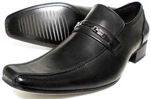LASSU&FRISS ビットローファー スリッポン ビジネスシューズ 黒 3E(EEE) 27.5cm、28cm(28.0cm)、29cm(29.0cm)、30cm(30.0cm)[大きいサイズ・メンズ・革靴・紳士靴]