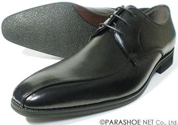S-MAKE(エスメイク)本革 スワールモカ(流れモカ)ビジネスシューズ 黒 ワイズ3E(EEE) 28cm(28.0cm)、29cm(29.0cm)、30cm(30.0cm)【大きいサイズ(ビッグサイズ)メンズ革靴・紳士靴】