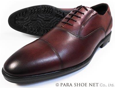 texcy luxe 本革 内羽根ストレートチップ(キャップトゥ)ビジネスシューズ ダークワイン ワイズ(足幅)3E(EEE) 28cm(28.0cm)、29cm(29.0cm)、30cm(30.0cm)【大きいサイズ(ビッグサイズ)メンズ革靴・紳士靴】