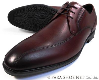 texcy luxe 本革 スワールモカ ビジネスシューズ ダークワイン ワイズ(足幅)3E(EEE) 28cm(28.0cm)、29cm(29.0cm)、30cm(30.0cm)【大きいサイズ(ビッグサイズ)メンズ革靴・紳士靴】