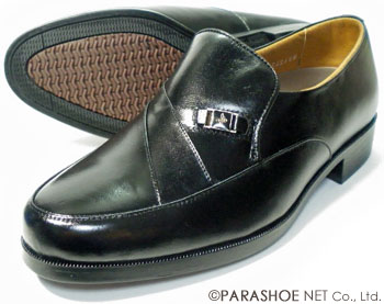 MR.BROWN(Moonstar)カンガルー革 シャーリングスリッポン ビジネスシューズ 黒 ワイズ4E(EEEE)23cm(23.0cm)、23.5cm、24cm(24.0cm)【小さいサイズ(スモールサイズ)メンズ革靴・蒸れない紳士靴】