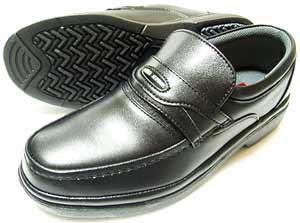 After Golf(アフターゴルフ)本革 モカスリッポン ビジネスシューズ 黒(ブラック) ワイズ4E(EEEE)27.5cm、28cm(28.0cm)【大きいサイズ(ビッグサイズ)革靴・紳士靴】