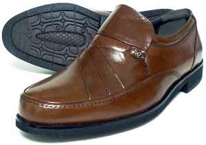 MG(Men's Gear)カンガルー革 シャーリングスリッポン ビジネスシューズ 茶色 23cm(23.0cm)、23.5cm、24cm(24.0cm)/小さいサイズ・メンズ・革靴・紳士靴