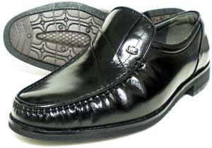 MG(Men's Gear)カンガルー革 モカスリッポン ビジネスシューズ 黒 23cm(23.0cm)、23.5cm、24cm(24.0cm)/小さいサイズ・メンズ・革靴・紳士靴