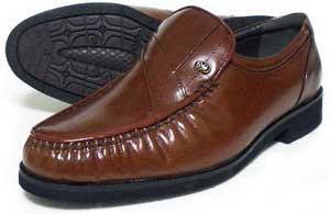MG(Men's Gear)カンガルー革 モカスリッポン ビジネスシューズ 茶色 23cm(23.0cm)、23.5cm、24cm(24.0cm)/小さいサイズ・メンズ・革靴・紳士靴