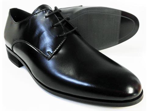 EXCEL 本革 プレーントゥ ビジネスシューズ&冠婚葬祭 黒 ワイズ3E(EEE) 23.5cm、24cm(24.0cm)/小さいサイズ(スモールサイズ)メンズ革靴・紳士靴