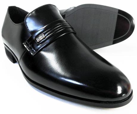 EXCEL 本革 プレーンスリッポン ビジネスシューズ&冠婚葬祭 黒 ワイズ3E(EEE) 23.5cm、24cm(24.0cm)/小さいサイズ(スモールサイズ)メンズ革靴・紳士靴