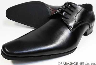 S-MAKE(エスメイク)本革 プレーントゥ ビジネスシューズ 黒 ワイズ(足幅)/3E(EEE) 23cm(23.0cm)、23.5cm、24cm(24.0cm) 【小さいサイズ(スモールサイズ)革靴・紳士靴】