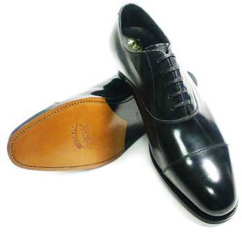 PARASHOE 革底(レザーソール)内羽根式 ストレートチップ(キャップトゥ)ビジネスシューズ 黒 ワイズ2E(EE)サイズ22cm~30cm/グッドイヤーウェルト製法・日本製・革靴・紳士靴