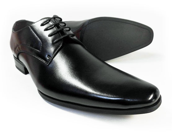 PARASHOE 本革 プレーントゥ ビジネスシューズ 黒 ワイズ(足幅)3E(EEE)27.5cm、28cm(28.0cm)、29cm(29.0cm)、30cm(30.0cm)、31cm(31.0cm)【大きいサイズ(ビッグサイズ)メンズ革靴・紳士靴】