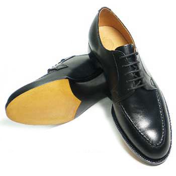 PARASHOE ハンドメイド(九分半仕立て)本革底 スキンステッチUチップ ビジネスシューズ アノネイ黒 ワイズE~2E(EE)サイズ22cm(22.0cm)22.5cm 23cm(23.0cm)23.5cm 24cm(24.0cm)/ハンドソーンウェルト製法・日本製・革靴・紳士靴