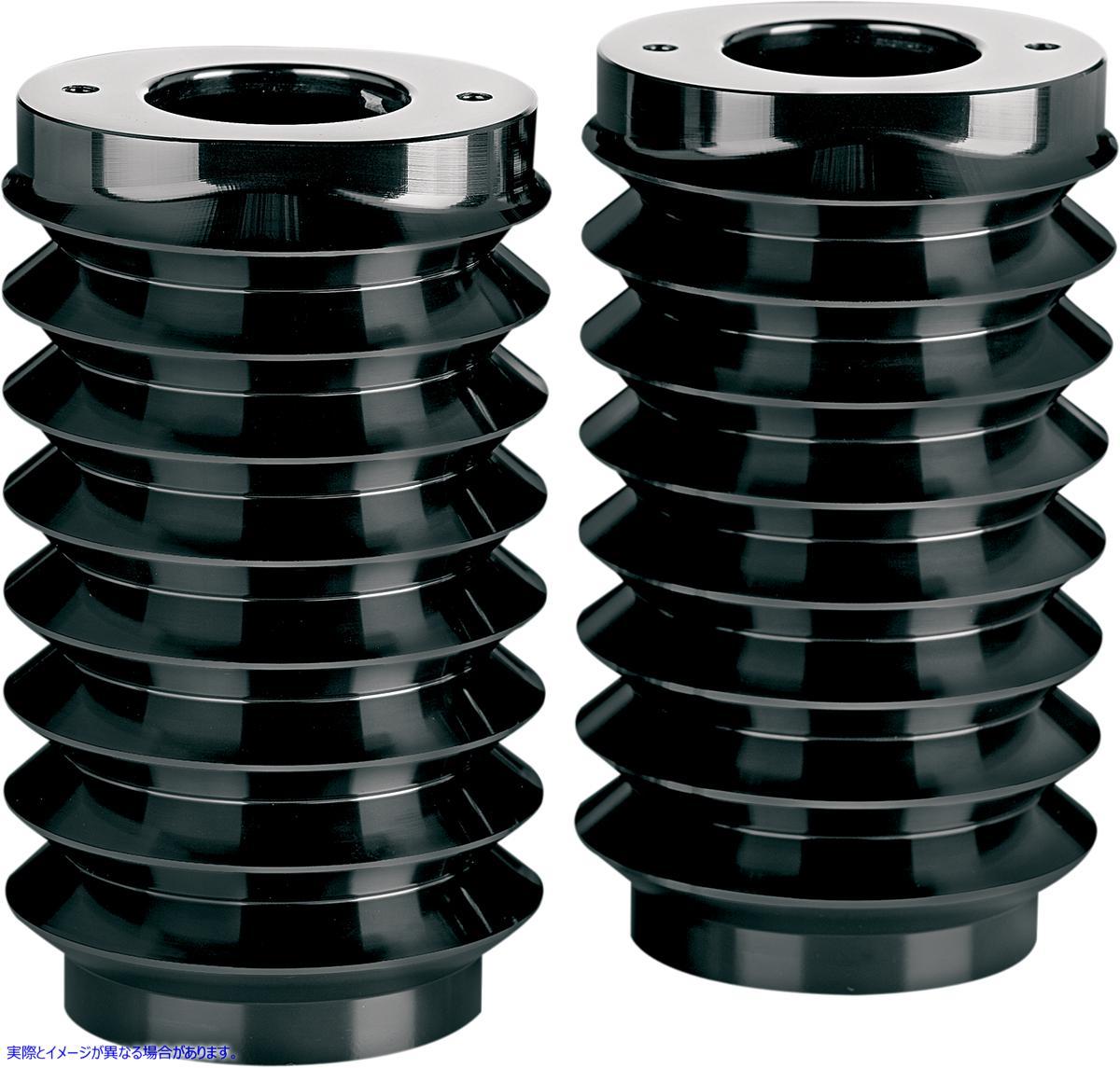 【取寄せ】 アレンネス 20-004 ARLEN NESS Retro Fork Boot Covers - Black Anodized - FLHT COVER SLDR RETRO FLHT BLK 04110006 ( 0411-0