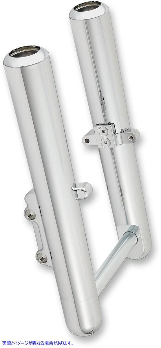 【取寄せ】 アレンネス 06-520 ARLEN NESS Hot Legs Fork Legs - Custom Single Disc - Smooth - Chrome - '08-'13 ホットレッグス SMTH S