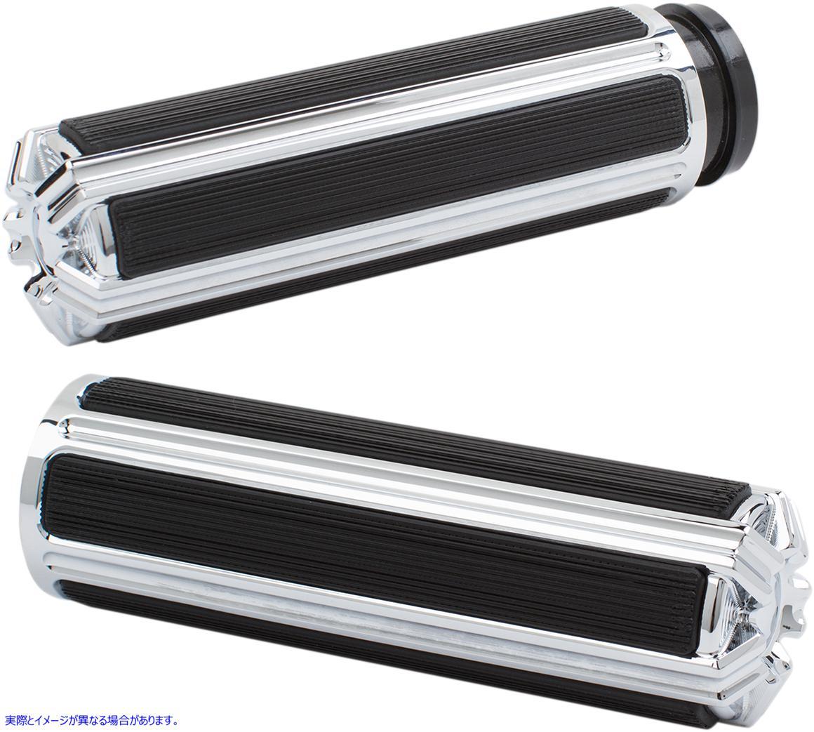 【取寄せ】 アレンネス 07-114 ARLEN NESS Chrome 10-Gauge Grips for Cable グリップ 10 GAUGE CBL CHR 06301691 ( 0630-1691 ドラッグス