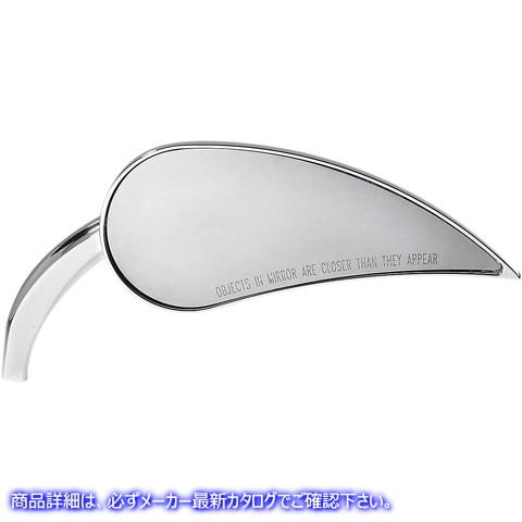 【取寄せ】 アレンネス 13-091 ARLEN NESS Rad III Mirror - Tear Drop - Chrome - Right ミラー RAD 3 T-DROP R CHR 06400323 ( 0640-032