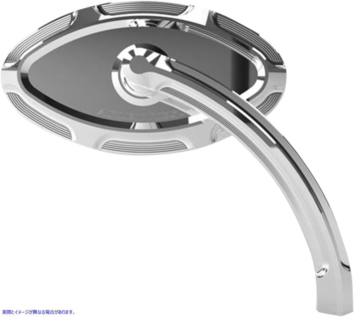 【取寄せ】 アレンネス 13-131 ARLEN NESS Cats Eye Forged Billet Mirror - Chrome - Left ミラー BVLD CAT LF クローム SH 06400756 ( 0