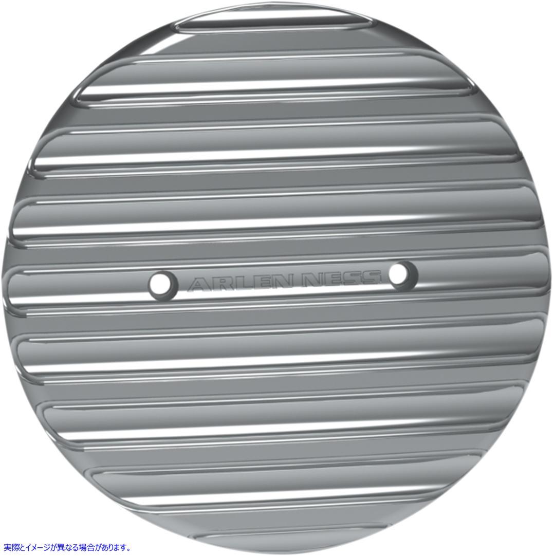 【取寄せ】 アレンネス I-1177 ARLEN NESS Finned Derby Cover - Chrome - Indian 09401667 ( 0940-1667 ドラッグスペシャリティーズ DRAG