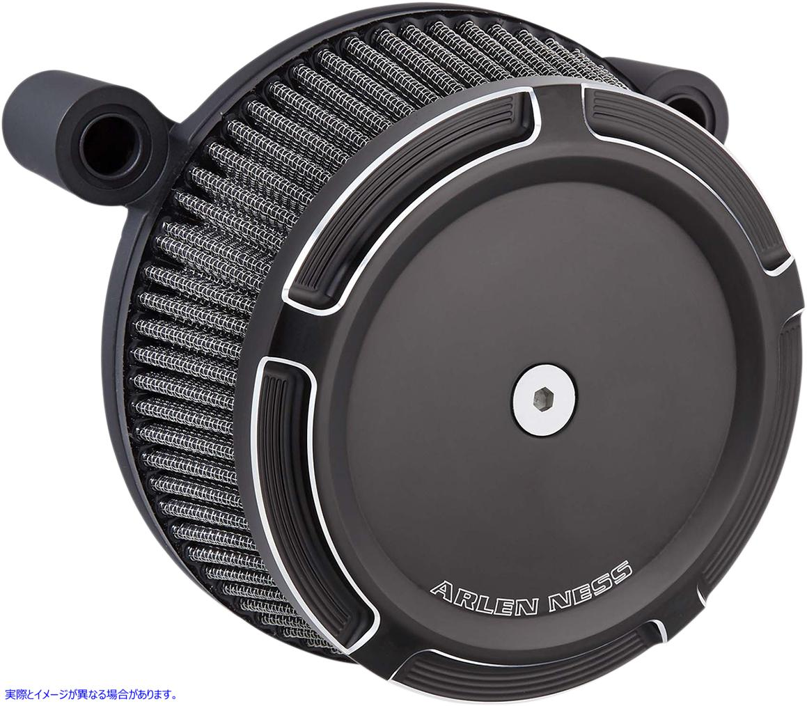 【取寄せ】 アレンネス 50-840 ARLEN NESS Air Cleaner Synthetic Stage1 Beveled Black FL 08 10102070 ( 1010-2070 ドラッグスペシャリ