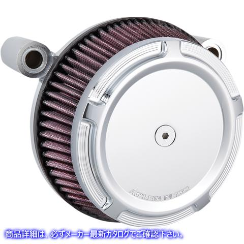 【取寄せ】 アレンネス 50-846 ARLEN NESS Air Cleaner Synthetic Stage-1 Beveled Chrome Twin Cam 10102076 ( 1010-2076 ドラッグスペシ