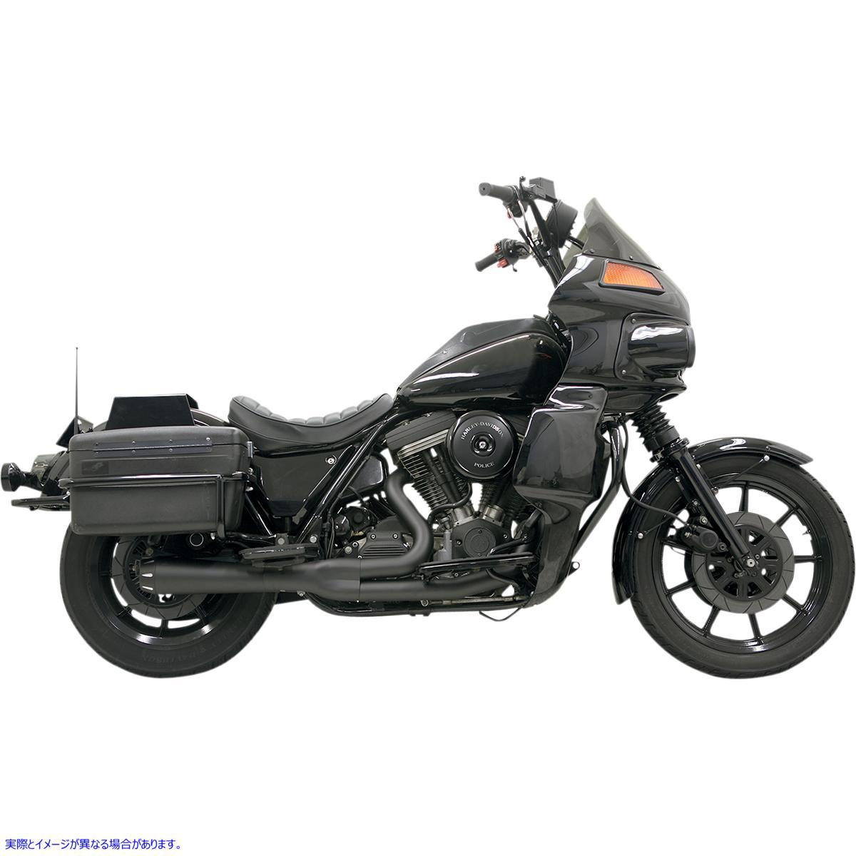 【取寄せ】 バッサーニ エキゾースト 1FXRFB BASSANI XHAUST Road Rage 2:1 Exhaust - Black - FXR エキゾースト RR2-1 EVO FXRT BK 18001