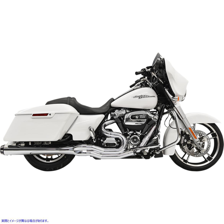 【取寄せ】 1F51R BASSANI XHAUST 2:1 Exhaust - Chrome - Megaphone - '17+ FL 18002129 ドラッグスペシャリティーズ 1800-2129 DRAG SP
