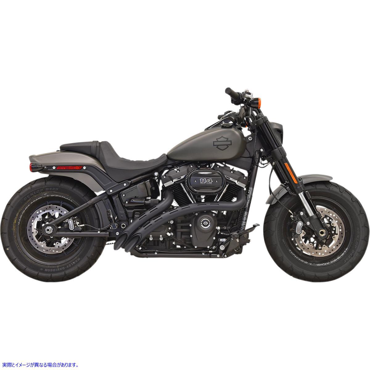 【取寄せ】 バッサーニ エキゾースト 1S22FB BASSANI XHAUST Sweeper Exhaust - Black/Black - '18+ Softail 18002246 ( 1800-2246 ドラッ