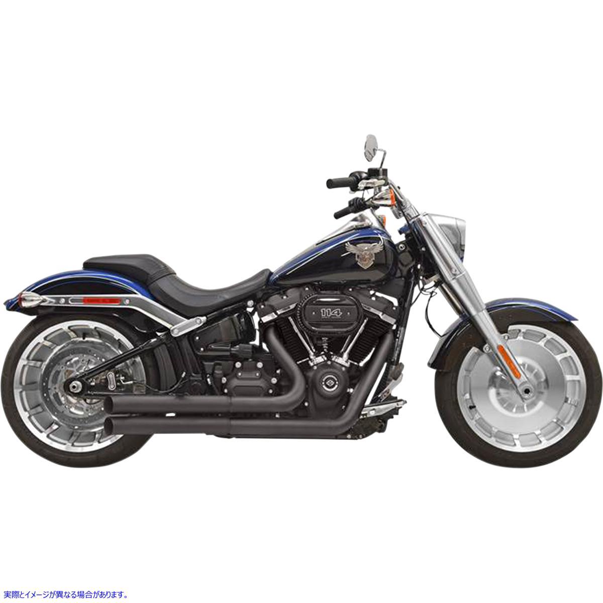 【取寄せ】 バッサーニ エキゾースト 1S34DB BASSANI XHAUST Pro Street Exhaust - Black - '18+ Softail 18002279 ( 1800-2279 ドラッグ