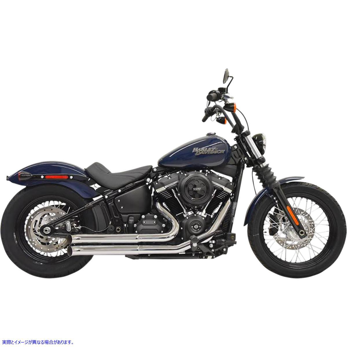 【取寄せ】 バッサーニ エキゾースト 1S35D BASSANI XHAUST Pro Street Exhaust - Chrome - '18+ Softail 18002432 ( 1800-2432 ドラッグ