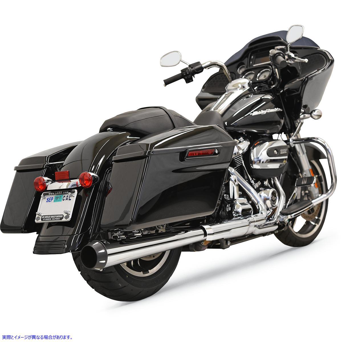 【取寄せ】 1F17R BASSANI XHAUST 2:1 Muffler - Chrome - Megaphone - '17-'19 FL 18011159 ドラッグスペシャリティーズ 1801-1159 DRAG