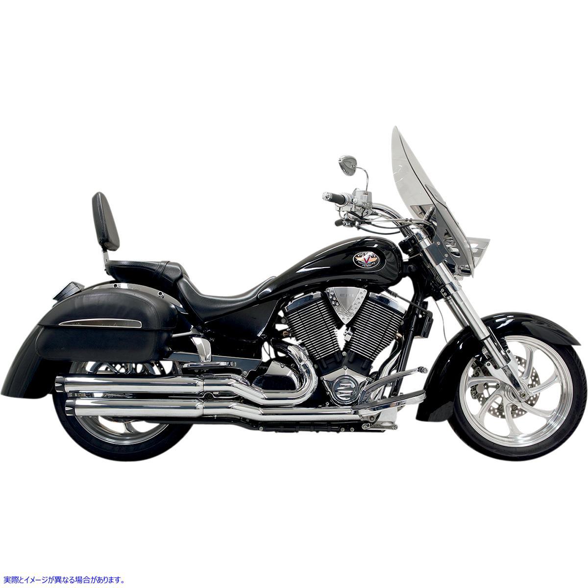 【取寄せ】 バッサーニ エキゾースト 6V13T BASSANI XHAUST Pro Street Exhaust - Chrome - Victory 18102176 ( 1810-2176 ドラッグスペシ