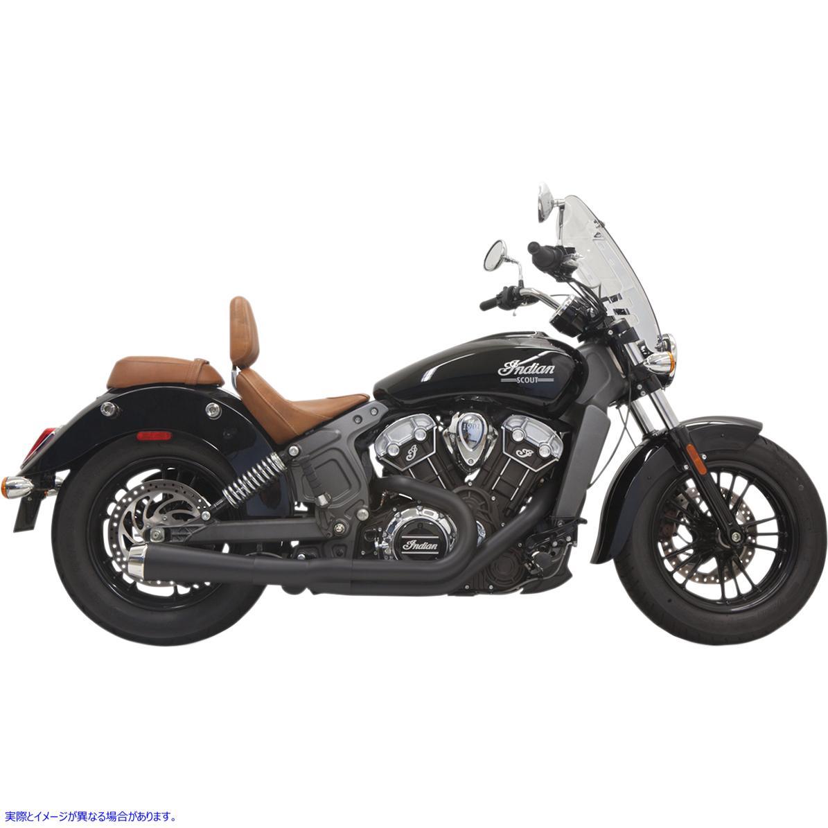 【取寄せ】 8S12JB BASSANI XHAUST 2:1 Exhaust - Black - Short - Scout 18102353 ドラッグスペシャリティーズ 1810-2353 DRAG SPECIALT