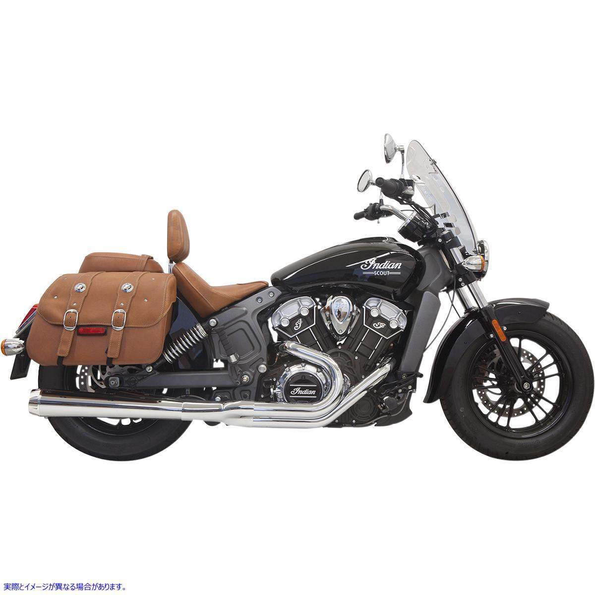 【取寄せ】 8S11J BASSANI XHAUST 2:1 Exhaust - Chrome - Long - Scout 18102354 ドラッグスペシャリティーズ 1810-2354 DRAG SPECIALTI