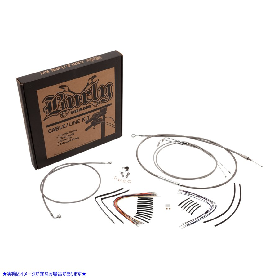 【取寄せ】 B30-1127 BURLY BRAND CABLE KIT SS 11-15 FLST CONTROL KIT 11+ FLS SS 14 06101663 ドラッグスペシャリティーズ 0610-1663 D