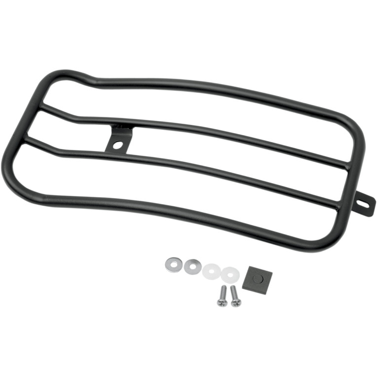 MOTHERWELL Motherwell solo seat luggage rack Black 7-inch Dyna-MWL-530B 1510-0111 luggage rack carrier Harley-Davidson products