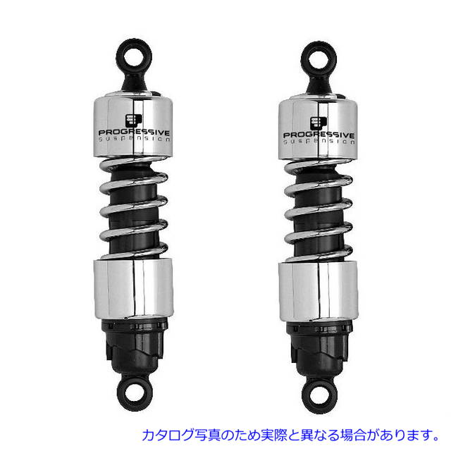412 series suspension chrome 04-2014 Sportster 11.5-inch PROGRESSIVE SUSPENSION progressive suspension products-412-4063C