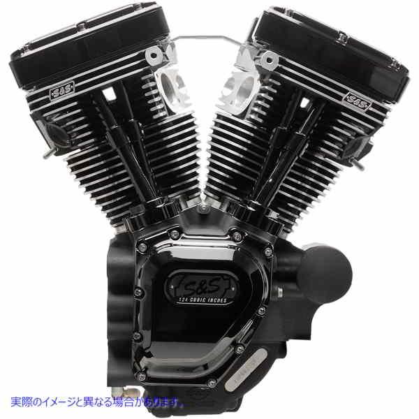 【取寄せ】 310-0835A S&S CYCLE ENGINE T124HCLB BLK 07-16 09010247 ドラッグスペシャリティーズ 0901-0247 DRAG SPECIALTIES