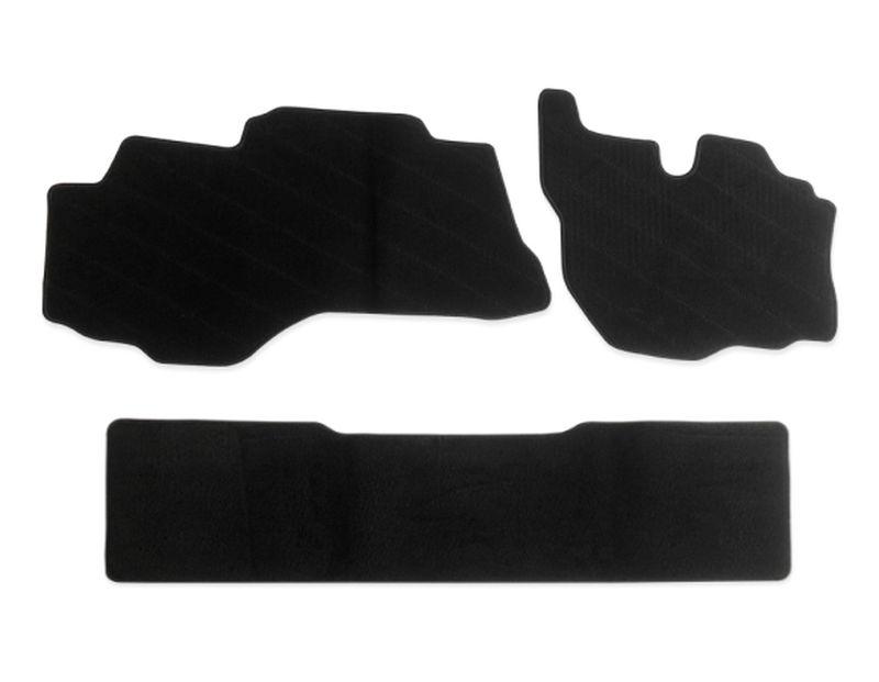 内装パーツ 三菱 ふそう ブルーテック キャンター 平成22年12月- 標準 ダブルキャブ リア 捧呈 + 黒 PA-TFM2425-BK ブラック 物品 フロアマット フロント