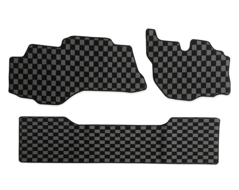 内装パーツ 三菱 ふそう ブルーテック キャンター H22年12月- 標準 ダブルキャブ フロアマット PA-TFM2425-G グレー 灰x黒 ファッション通販 ブラック チェック x 5%OFF R F