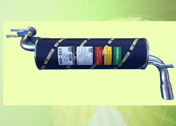 ラクティス NCP105 (4WD) 車検対応 新品マフラー ■ 純正同等 HST 039-83T