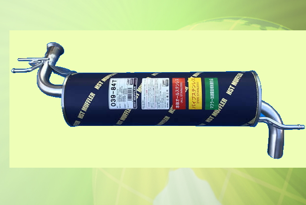 ヴィッツNCP95 (4WD) 車検対応 新品マフラー ■ 純正同等 HST 039-84T