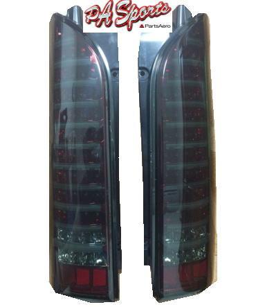 ハイエース 200系 テールライト 縦ライン スモークブラック LED1年保証付