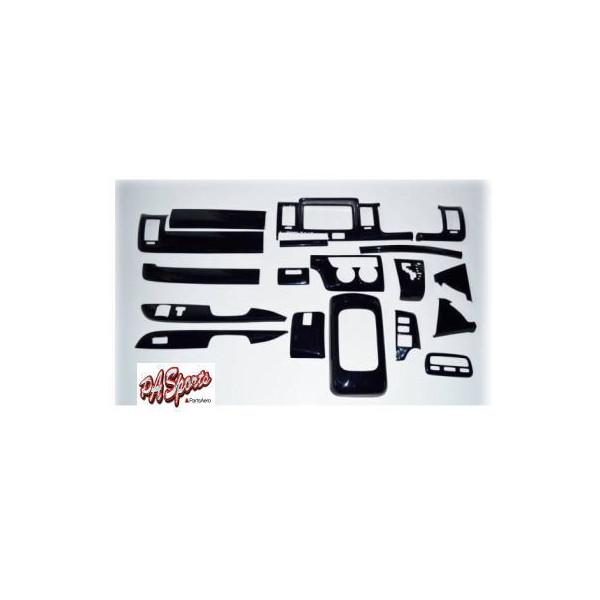 ハイエース200系1型2型3型標準車対応ナビバイザーインテリアパネル ピアノブラック